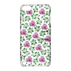 Rose Flower Pink Leaf Green Apple Ipod Touch 5 Hardshell Case With Stand by Alisyart