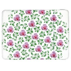 Rose Flower Pink Leaf Green Samsung Galaxy Tab 7  P1000 Flip Case