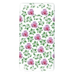 Rose Flower Pink Leaf Green Galaxy Note 4 Back Case by Alisyart