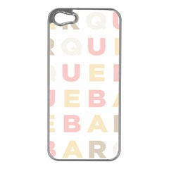 Alphabeth Rainbow Color Apple Iphone 5 Case (silver) by Alisyart