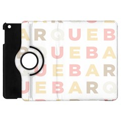 Alphabeth Rainbow Color Apple Ipad Mini Flip 360 Case by Alisyart