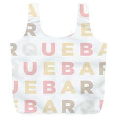 Alphabeth Rainbow Color Full Print Recycle Bags (l)  by Alisyart
