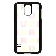 Alphabeth Rainbow Color Samsung Galaxy S5 Case (black) by Alisyart