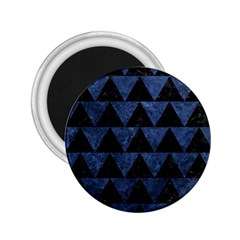 Triangle2 Black Marble & Blue Stone 2 25  Magnet