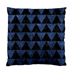 Triangle2 Black Marble & Blue Stone Standard Cushion Case (one Side) by trendistuff