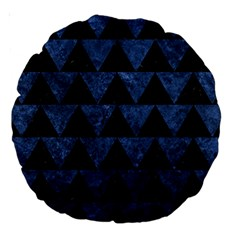 Triangle2 Black Marble & Blue Stone Large 18  Premium Round Cushion  by trendistuff