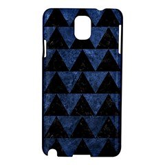 Triangle2 Black Marble & Blue Stone Samsung Galaxy Note 3 N9005 Hardshell Case by trendistuff
