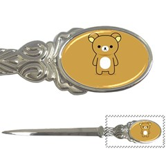 Bear Minimalist Animals Brown White Smile Face Letter Openers