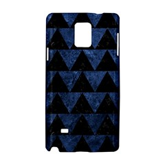 Triangle2 Black Marble & Blue Stone Samsung Galaxy Note 4 Hardshell Case by trendistuff