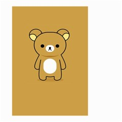 Bear Minimalist Animals Brown White Smile Face Small Garden Flag (two Sides) by Alisyart