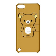 Bear Minimalist Animals Brown White Smile Face Apple Ipod Touch 5 Hardshell Case With Stand by Alisyart