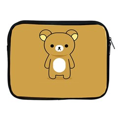 Bear Minimalist Animals Brown White Smile Face Apple Ipad 2/3/4 Zipper Cases by Alisyart