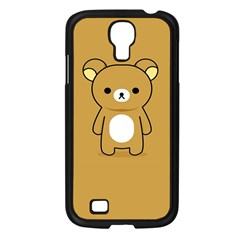 Bear Minimalist Animals Brown White Smile Face Samsung Galaxy S4 I9500/ I9505 Case (black) by Alisyart