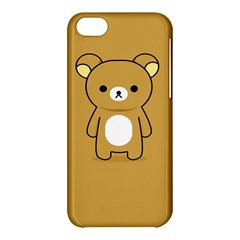 Bear Minimalist Animals Brown White Smile Face Apple Iphone 5c Hardshell Case by Alisyart