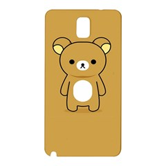 Bear Minimalist Animals Brown White Smile Face Samsung Galaxy Note 3 N9005 Hardshell Back Case