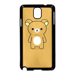 Bear Minimalist Animals Brown White Smile Face Samsung Galaxy Note 3 Neo Hardshell Case (black)