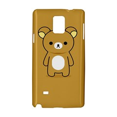 Bear Minimalist Animals Brown White Smile Face Samsung Galaxy Note 4 Hardshell Case by Alisyart