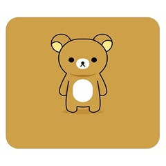 Bear Minimalist Animals Brown White Smile Face Double Sided Flano Blanket (small)  by Alisyart