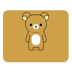Bear Minimalist Animals Brown White Smile Face Double Sided Flano Blanket (large)