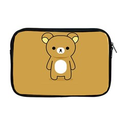 Bear Minimalist Animals Brown White Smile Face Apple Macbook Pro 17  Zipper Case