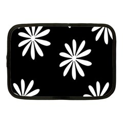 Black White Giant Flower Floral Netbook Case (medium)  by Alisyart