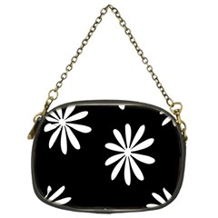 Black White Giant Flower Floral Chain Purses (one Side)  by Alisyart