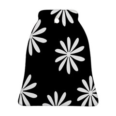 Black White Giant Flower Floral Ornament (bell) by Alisyart