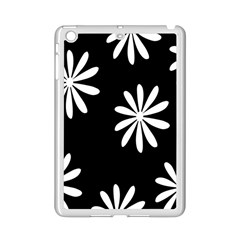 Black White Giant Flower Floral Ipad Mini 2 Enamel Coated Cases