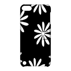 Black White Giant Flower Floral Apple Ipod Touch 5 Hardshell Case With Stand by Alisyart