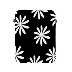 Black White Giant Flower Floral Apple Ipad 2/3/4 Protective Soft Cases by Alisyart