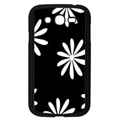 Black White Giant Flower Floral Samsung Galaxy Grand Duos I9082 Case (black)