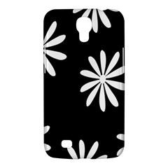 Black White Giant Flower Floral Samsung Galaxy Mega 6 3  I9200 Hardshell Case