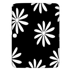 Black White Giant Flower Floral Samsung Galaxy Tab 3 (10 1 ) P5200 Hardshell Case  by Alisyart