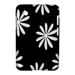 Black White Giant Flower Floral Samsung Galaxy Tab 2 (7 ) P3100 Hardshell Case