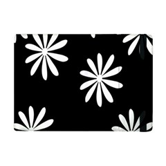 Black White Giant Flower Floral Ipad Mini 2 Flip Cases by Alisyart