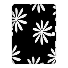 Black White Giant Flower Floral Samsung Galaxy Tab 4 (10 1 ) Hardshell Case  by Alisyart