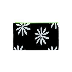 Black White Giant Flower Floral Cosmetic Bag (xs) by Alisyart