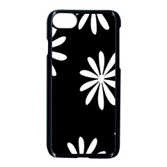 Black White Giant Flower Floral Apple Iphone 7 Seamless Case (black) by Alisyart