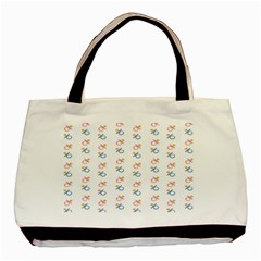 Baby Pacifier Pink Blue Brown Kids Basic Tote Bag (two Sides) by Alisyart