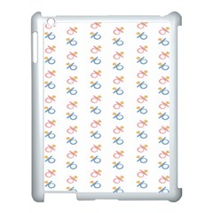 Baby Pacifier Pink Blue Brown Kids Apple Ipad 3/4 Case (white)