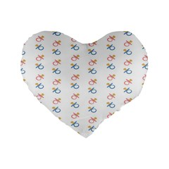 Baby Pacifier Pink Blue Brown Kids Standard 16  Premium Heart Shape Cushions