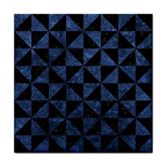 Triangle1 Black Marble & Blue Stone Face Towel by trendistuff