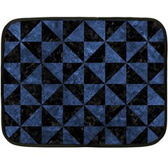 Triangle1 Black Marble & Blue Stone Double Sided Fleece Blanket (mini) by trendistuff