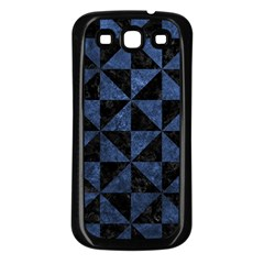 Triangle1 Black Marble & Blue Stone Samsung Galaxy S3 Back Case (black) by trendistuff