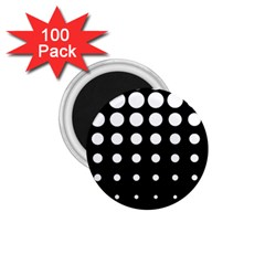 Circle Masks White Black 1 75  Magnets (100 Pack)  by Alisyart