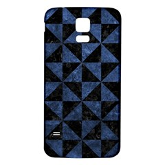Triangle1 Black Marble & Blue Stone Samsung Galaxy S5 Back Case (white) by trendistuff