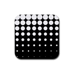 Circle Masks White Black Rubber Square Coaster (4 Pack)  by Alisyart
