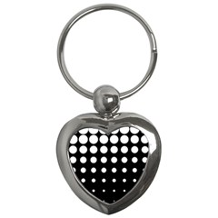 Circle Masks White Black Key Chains (heart)
