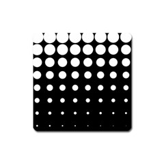 Circle Masks White Black Square Magnet by Alisyart