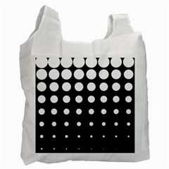 Circle Masks White Black Recycle Bag (one Side) by Alisyart